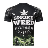 Tee-shirt Smoke Weed everyday noir verso