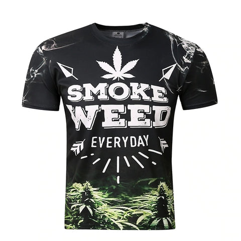 T-shirt Smoke Weed everyday noir recto
