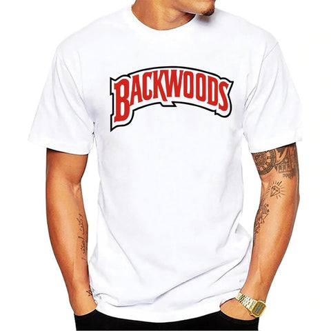 T-shirt blanc Backwoods Smokes à manches courtes