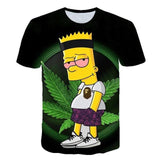 Tee-shirt weeb Bart Simpson à manches courtes recto
