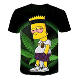 T-shirts weeb Bart Simpson à manches courtes verso
