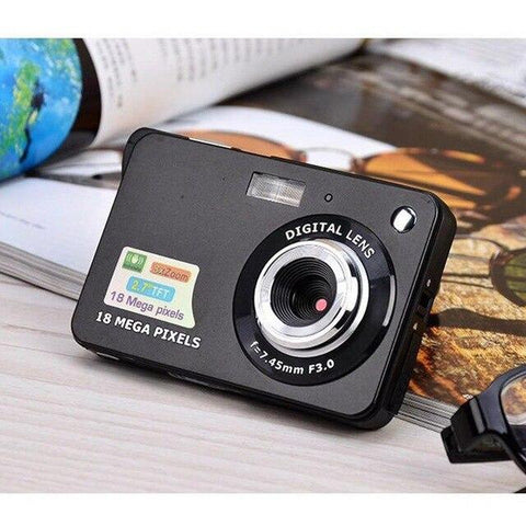 2.7 Inch Ultra-thin 18 MP HD Digital Video Camera Digital Camera GordVE Black