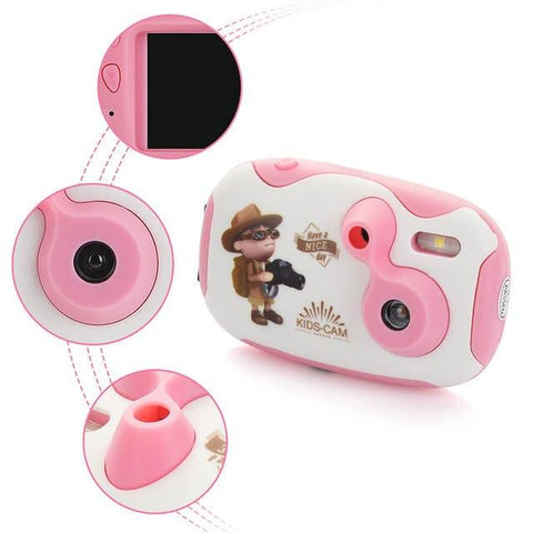 Children's educational toddler toys photo camera kids mini toy camera with neck strap photography gifts Digital Camera OCDAY