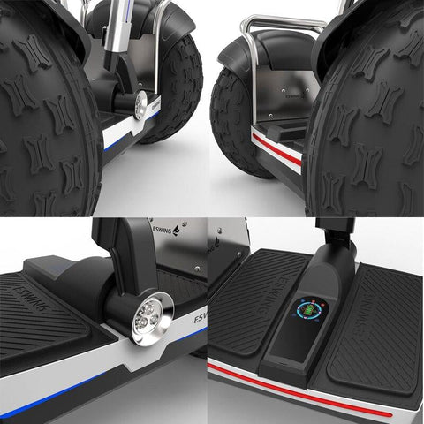 Image of ESWING ES6+ City Electric Two-wheel Scooter Off Road Type 19 Inch Tire Buit-in GPS With Bluetooth APP Electric Scooter ESWING