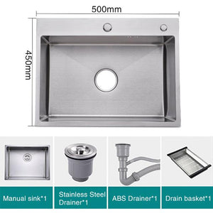 Single 304 Stainless Steel Kitchen Sink