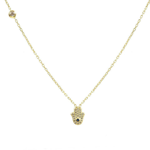Image of Alluring Hamsa Hand Necklace - esavy