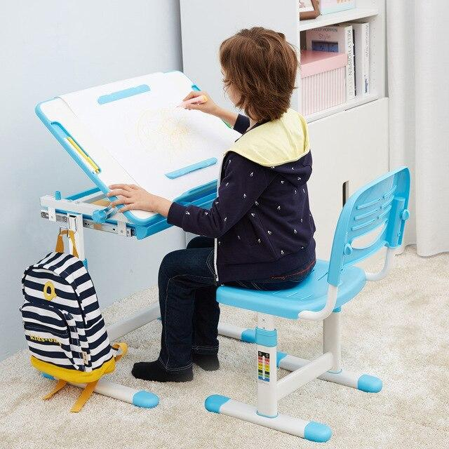 iKayaa Kids Multifunction Adjustable Study Desk and Chair Set - esavy