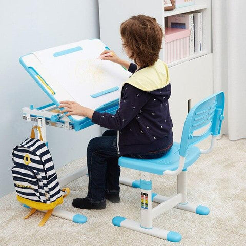 Kids Multifunction Adjustable Study Desk and Chair Set - esavy