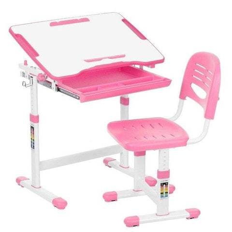 Image of iKayaa Kids Multifunction Adjustable Study Desk and Chair Set - esavy