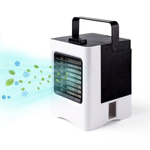 KBAYBO USB Portable Air Conditioner Humidifier Purifier Cool Soothing Wind Air Cooler Fan Air Cooling Fan