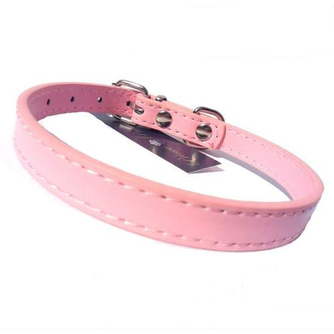 Image of Kensington Plain Dog Collars Dog Collar Salmon Oscar Light Pink Small
