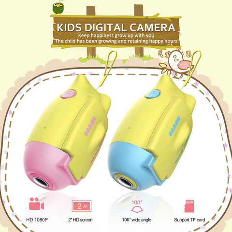Kids 2.0 Inch Color Display Digital Camera Children Camcorder Video HD Camera GC0308 Image Sensor Specially Made For Kids Digital Camera Rondaful