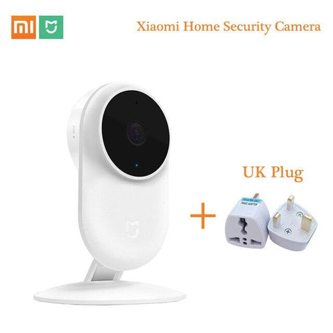 Original Xiaomi Mijia 1080P IP Camera 130 Degree FOV Night Vision Security Smart Camera 2.4Ghz Dual-band for Home Kit Mi Home Security Camera XIAOMI UK PLUG