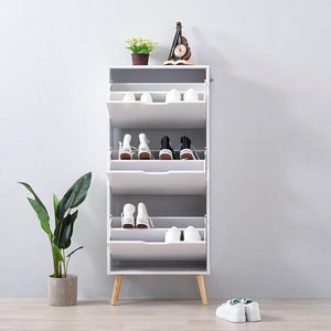 Panana Shoe Hallway White Storage Cabinet