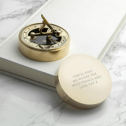 Adventurers Personalised Brass Sundial Compass. - esavy