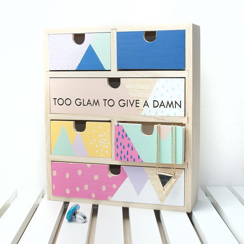 Moonshine Personalised Geometric Accessory Drawers - esavy