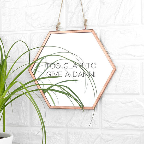 Image of Personalised Hexagon Copper Mirror - esavy