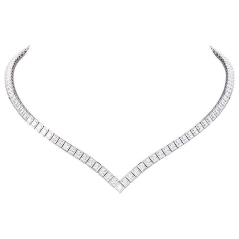 Princess High-Quality Tennis Necklace - esavy