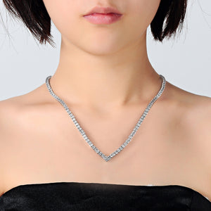 Philip Jones Princess High-Quality Tennis Necklace