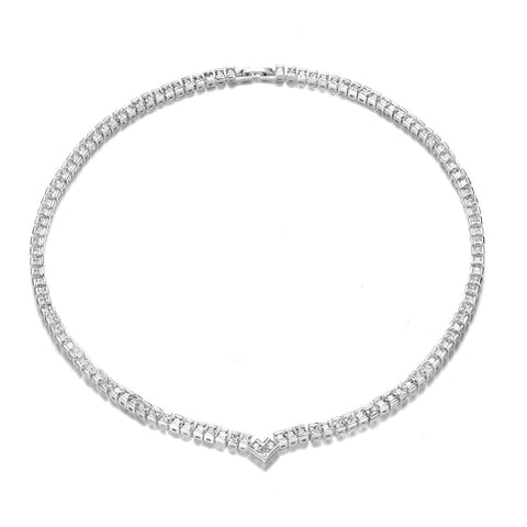 Philip Jones Princess High-Quality Tennis Necklace - esavy