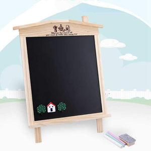 Wood Tabletop Magnetic Drawing Chalkboard for Kids