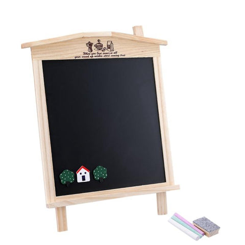 Image of Wood Tabletop Magnetic Chalkboard Drawing Board For Kids Drawing Board BERYOU