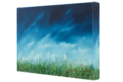 The breath, right side view of the oil painting of wild grasses by British contemporary artist  Royden Astrop.