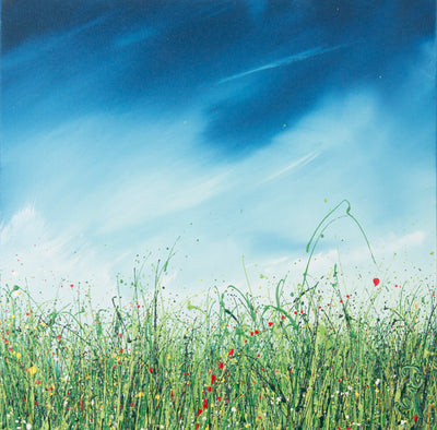 Philosophy, Royden Astrop, British artist, painter, wild grasses, grass painting, oil painting