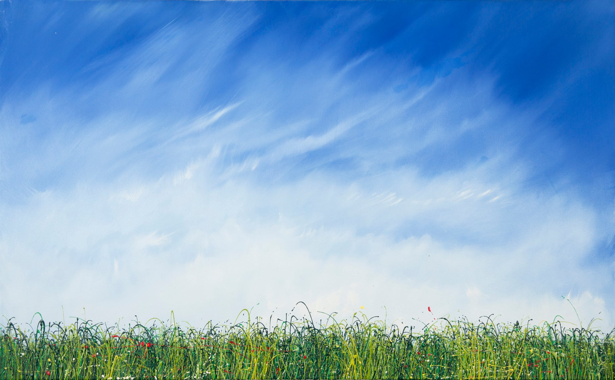 Beautiful because, Royden Astrop, British artist, painter, wild grasses, grass painting, oil painting