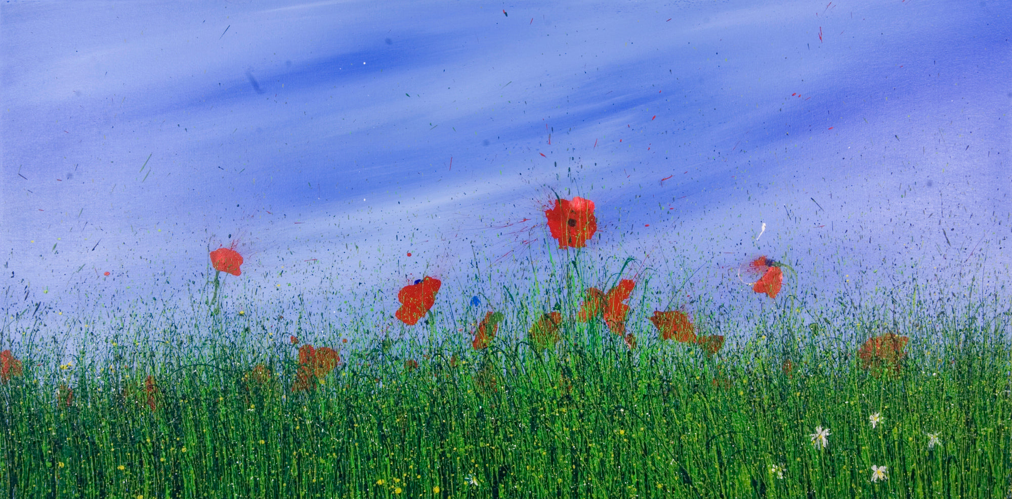 Love of you, Royden Astrop, British artist, painter, wild grasses, grass painting, oil painting, poppy painting