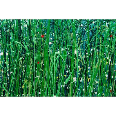 Momentary breath, Royden Astrop, British artist, painter, wild grasses, grass painting, oil painting