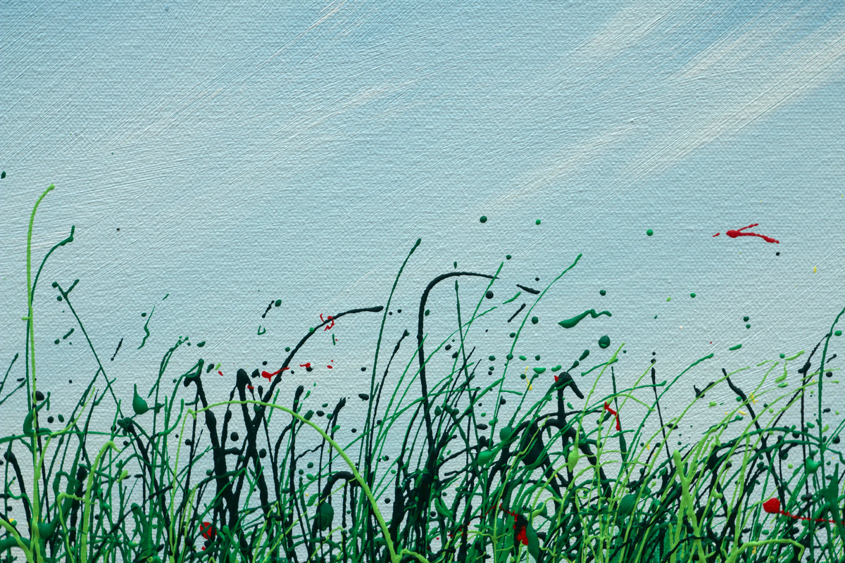 Out of nature, Royden Astrop, British artist, painter, wild grasses, grass painting, oil painting