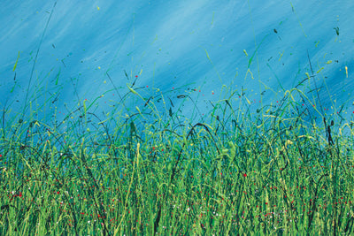Within, Royden Astrop, British artist, painter, wild grasses, grass painting, oil painting