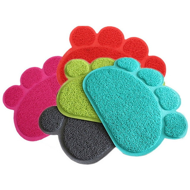 Dog Puppy Paw Shaped Place-Mat For Food Dish