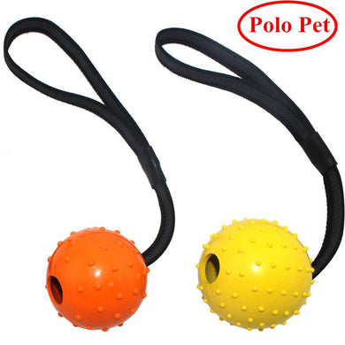 Natural Rubber Dog Toy Ball Rope