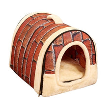 Load image into Gallery viewer, Dog House Nest With Mat Fold-able with Removable Dog Bed
