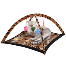 Load image into Gallery viewer, Coral Fleece Lady Bug and Tiger style Cat Play Tent