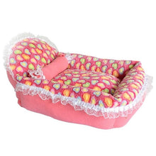 Load image into Gallery viewer, Coral Velvet Lace Dog and Cat Bed