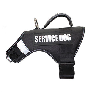 Reflective Large Service Dog Harness With Hook and Loop Straps