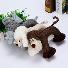 Load image into Gallery viewer, Cotton Squeaky Elephant, Poodle and Monkey Chew Toy