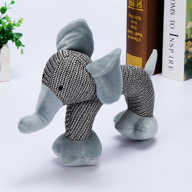 Cotton Squeaky Elephant, Poodle and Monkey Chew Toy