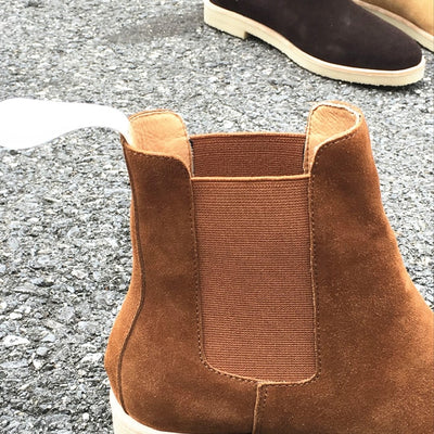 Handmade Luxury Brand Cow Leather Autumn Winter Men Boots Fashion Pointed Toe Wedding Chelsea Boots Vintage Motorcycle Boots
