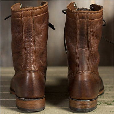 38-48 Work Shoes Winter Boots Men Big Size Plush Warm Winter Shoes Men Brown Vintage Men Boots Safety Shoes