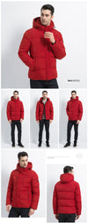 ICEbear 2019 Mens Winter Solid Parka Warm Jackets Simple Hem Practical Waterproof Zipper Pocket High Quality Parka