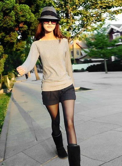 Shorts Femininos 2016 Autumn Winter Solid Slim Casual Woolen Bootcut Shorts Plus Size Warm Women Shorts