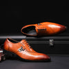 FELIX CHU Italian Designer Black Brown Brogue Shoes Genuine Leather Lace Up Men Formal Dress Oxfords Party Office Wedding 188-89