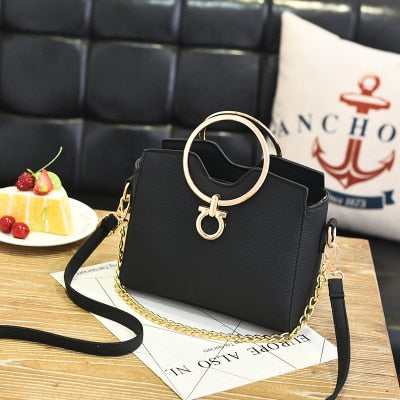 2019 casual chains metal handle small handbags hotsale laides purse famous brand women evening clutch messenger shoulder bags