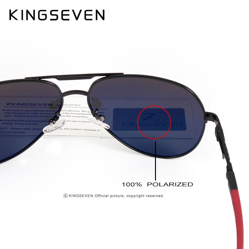 d4a1257259 KINGSEVEN Aluminum Magnesium Men s Sunglasses Polarized Men Coating Mirror  Glasses oculos Male Eyewear Accessories For Men