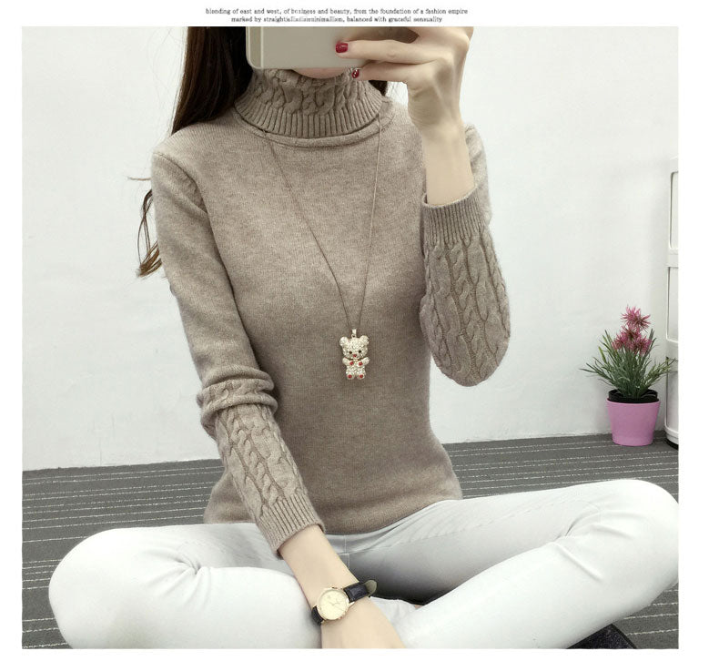 a705cf4b6d Women Turtleneck Winter Sweater Women 2019 Long Sleeve Knitted Women  Sweaters And Pullovers Female Jumper Tricot