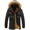 Mountainskin Winter Men's Jackets Thick Fleece 5XL Fur Collar Hooded Men's Coats Casual Jacket Male Outerwear Windproof SA390